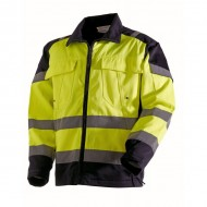 Veste de travail haute visibilité jaune fluo