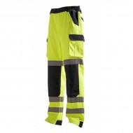 Pantalon de travail haute visibilité jaune fluo