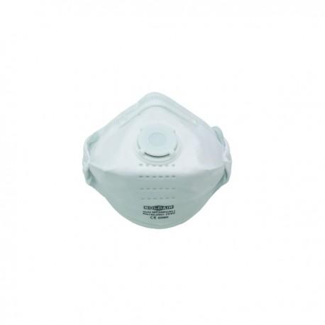 Masque respiratoire FFP2 pliable à valve, boîte de 20 pièces