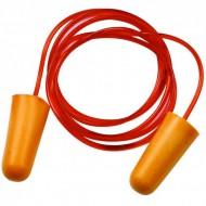 Bouchons anti-bruit jaunes PU avec corde la paire